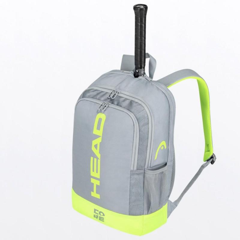 Mochila Head Core Backpack Grey Yellow 2021
