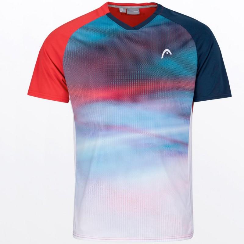 Camiseta Head Striker Men Red Blue