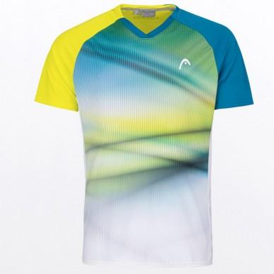 Head Camiseta Head Striker Men Yellow Blue