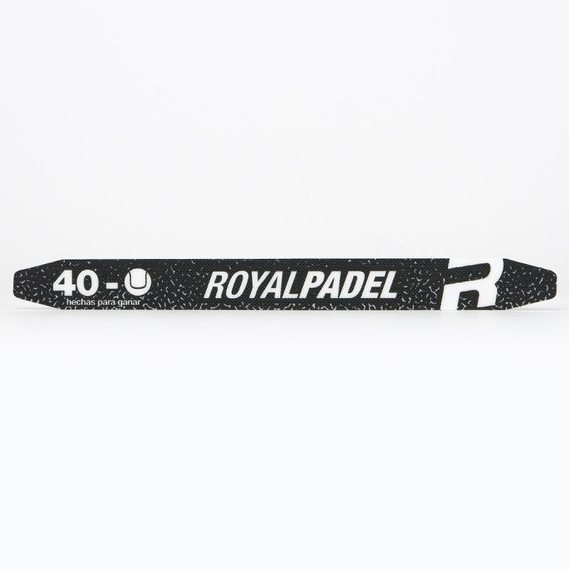 Protector Royal Padel Negro Letras Blancas