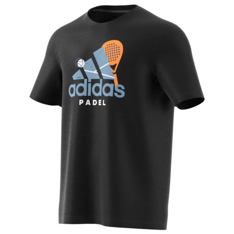 Camiseta Adidas Padel CAT Negra