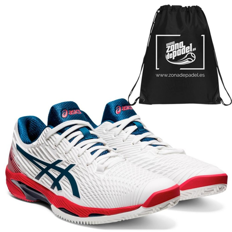 Zapatillas Asics Solution Speed FF 2 Clay White Mako Blue 2021