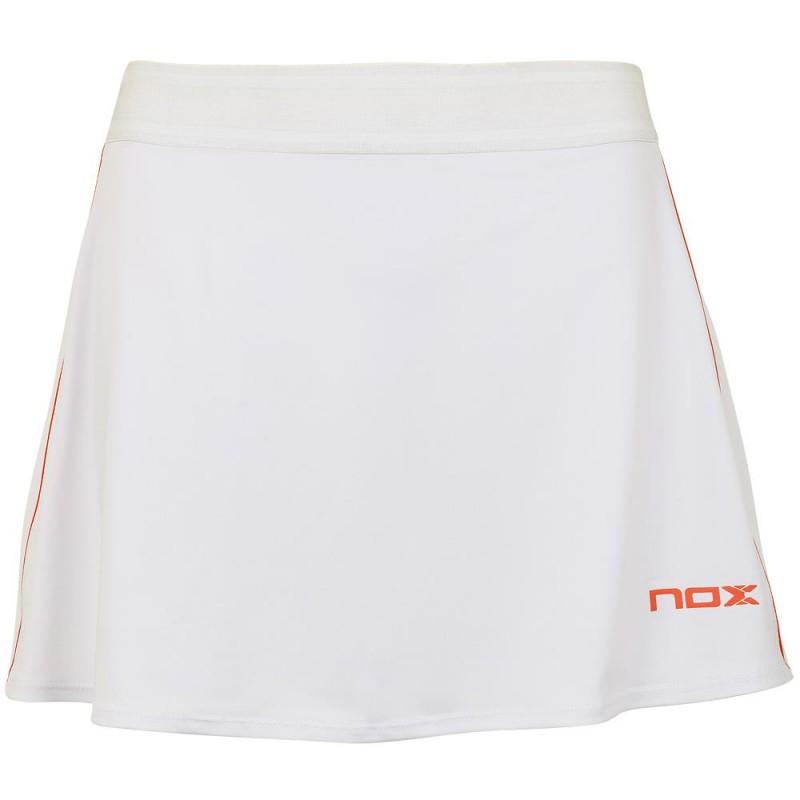 Falda Nox Alexia Blanca Logo Rojo