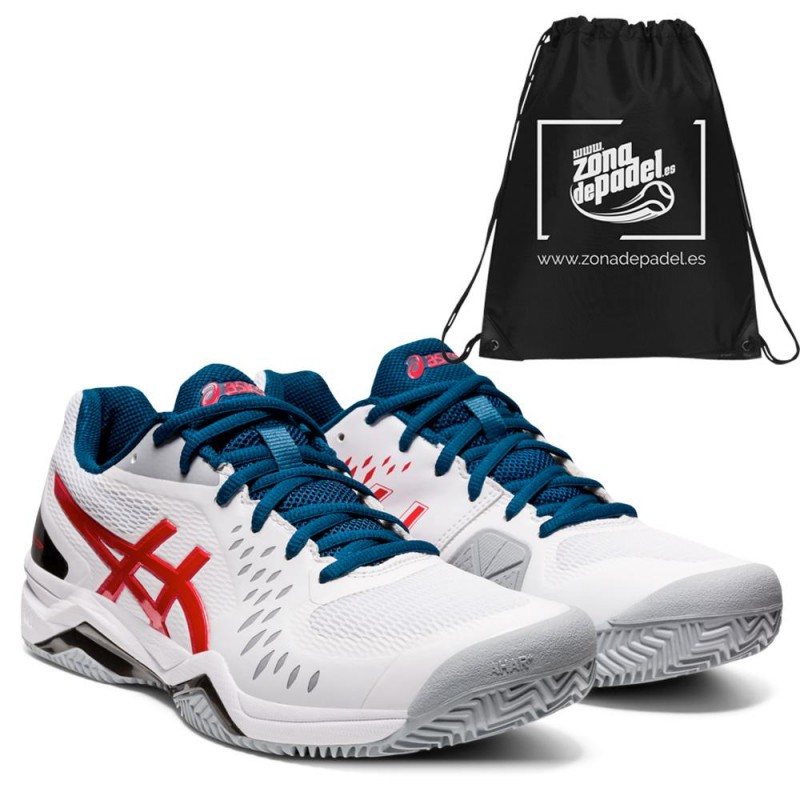 Asics Gel Challenger 12 Clay White Classic Red 2021
