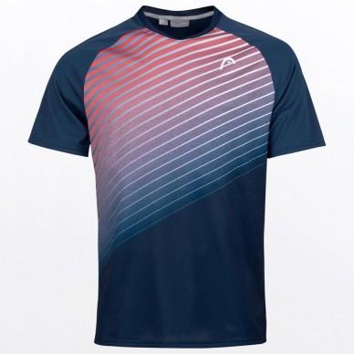 Head Camiseta Head Perf T-shirt M Azul Roja