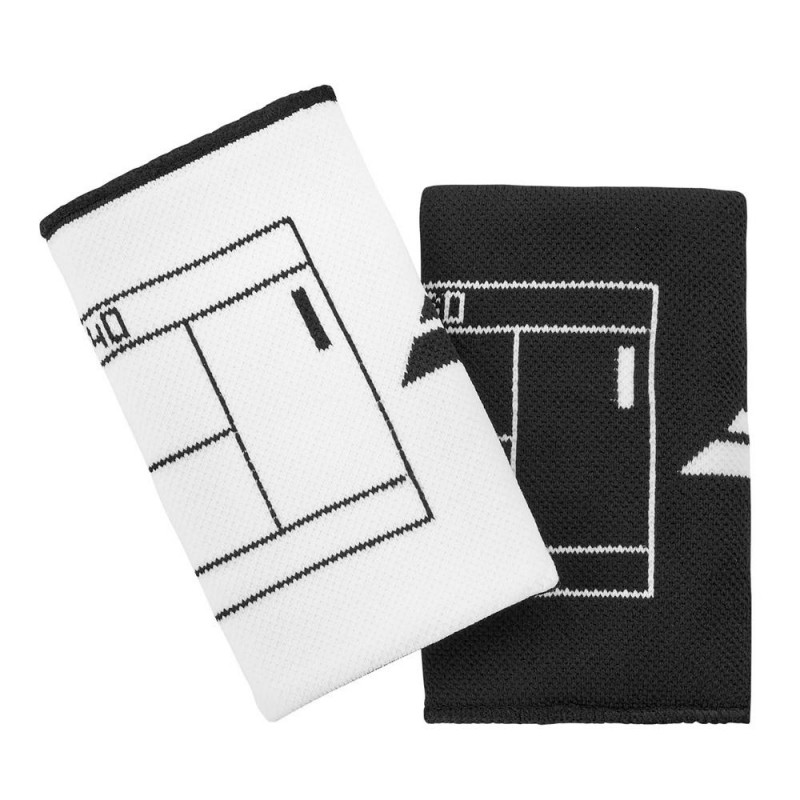 Muñequeras Babolat Reversibles Logo Jumbo White Black