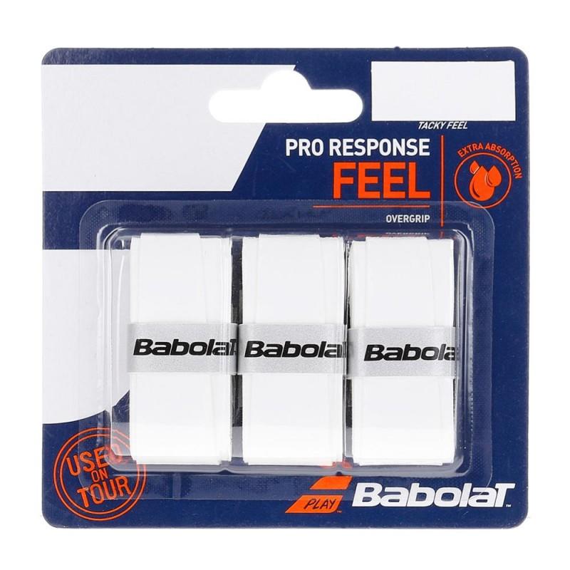 Overgrips Babolat Pro Response Feel x 3 Blancos