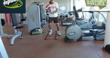 Entrenamiento intermitente en el gimnasio para pádel