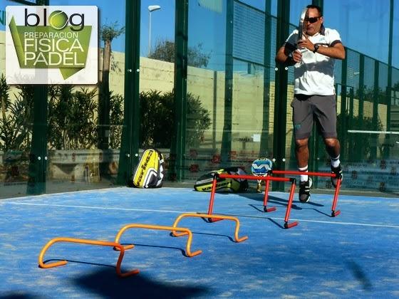 pliometría, potencia, vallas, pádel, entrenamiento, preparación física