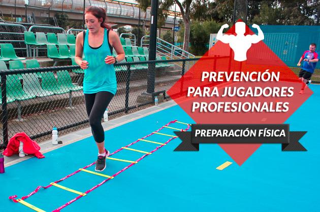 Prevención para jugadores profesionales de pádel