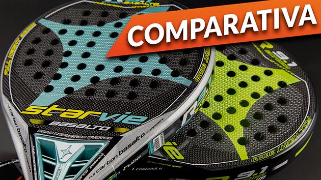 Comparativa pala Star Vie R9.1 DRS Basalto R9.1 DRS Aluminium 2016