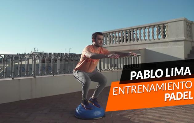 Entrenamiento con Pablo Lima usando Bosu y elásticas