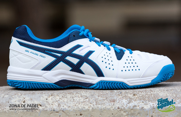 zapatillas asics azules y blancas