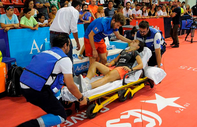Eli Amatriain lesionada en WPT