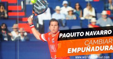 ¡Paquito Navarro nos enseña cómo cambiar de empuñadura en función del golpe!
