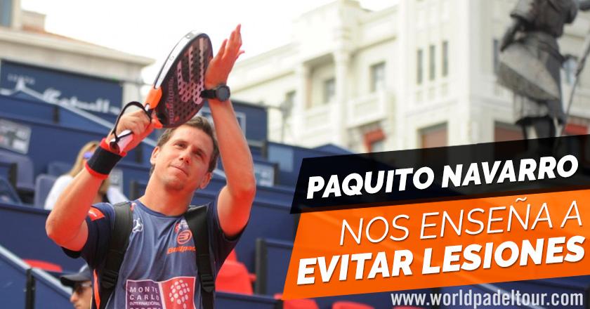Paquito Navarro nos habla de cómo prevenir las lesiones