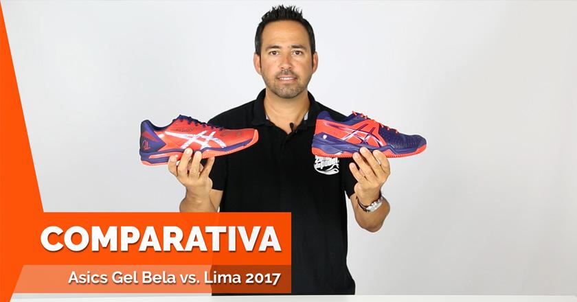 Comparativa de las zapatillas Asics Gel Lima Padel vs Asics Gel Bela 5 SG 2017