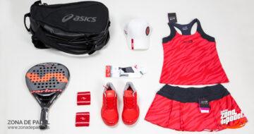 Look deportivo para mujer: al rojo vivo en la pista de pádel
