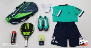 Look Adidas Hombre 2018 para pádel: colores fríos para el calor