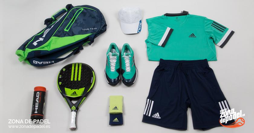 Look Adidas Hombre 2018 para pádel  colores fríos para el calor ... 72d78144a11