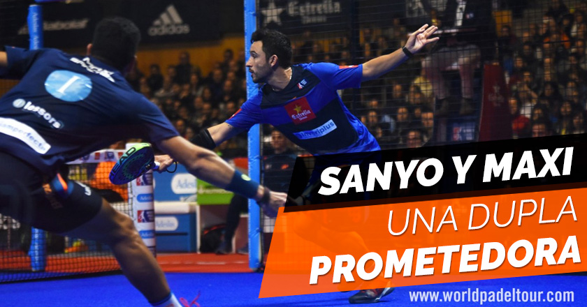 Sanyo Gutiérrez y Maxi Sánchez, una dupla que promete mucho en pádel