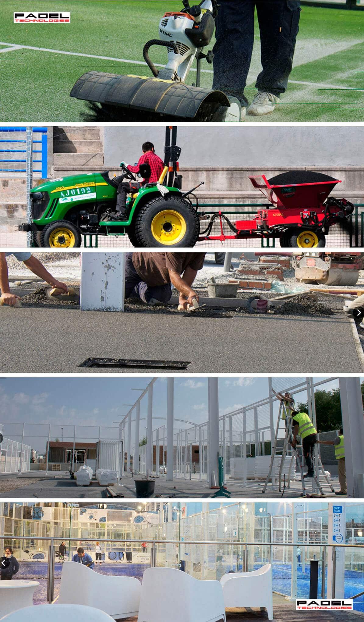 Padel Technologies construcción de pistas de pádel