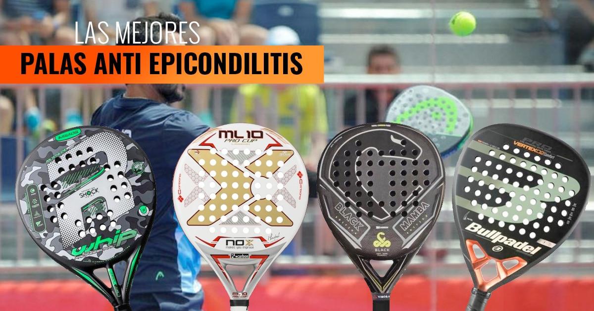 Mejores palas de padel anti epicondilitis